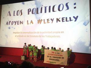 """Presentación de la Ley Kelly en el estreno del cortometraje """"Organizar lo (im)posible"""""""