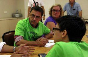 Reunión de Las Kellys con Juan Carlos Monedero (Podemos)