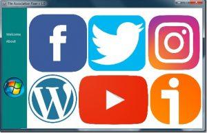 Imagen de Facebook, Twitter, Instagram, WordPress, Youtube e iVoox