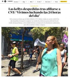 Noticia en El Salto Diario sobre la situación de Las Kellys