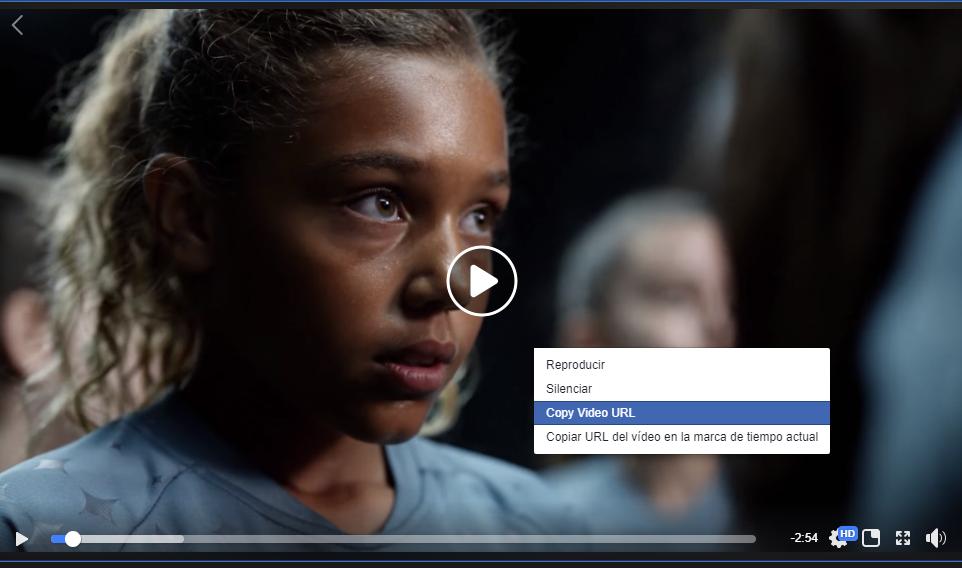 Cómo conseguir el link de un vídeo de Facebook